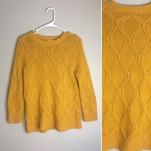 Mustard Yellow Knit Old Navy Sweater hipster Small